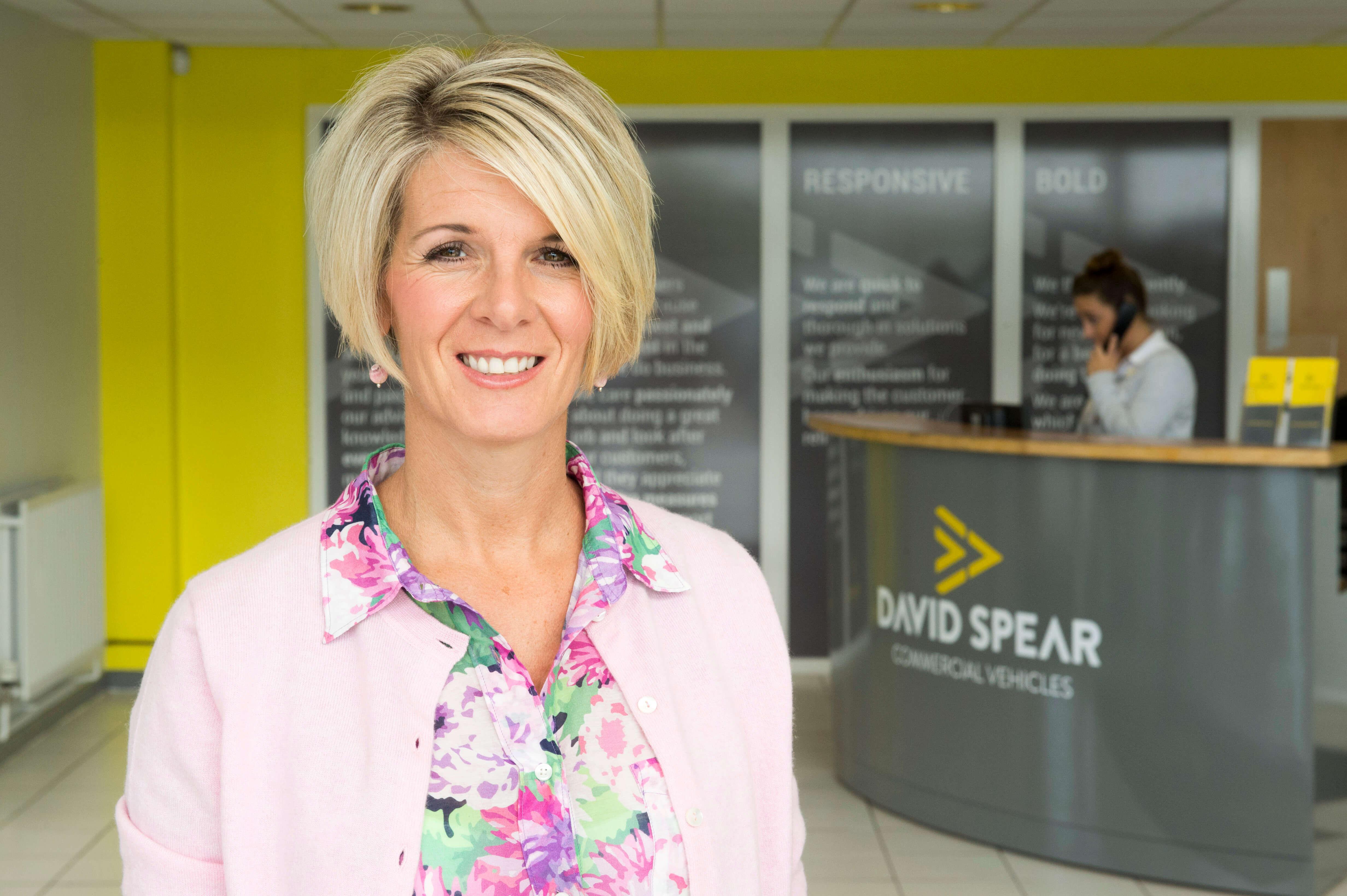 Sarah Spear, Van Dealership South Wales UK