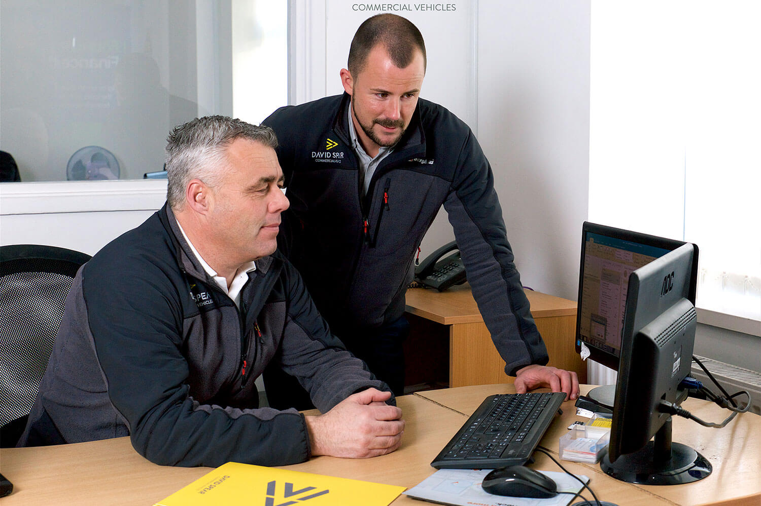 Secure Order and Payments on Commercial Vehicles